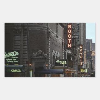 ブロードウェイのステッカーNYCのヴィンテージの劇場地区 長方形シール