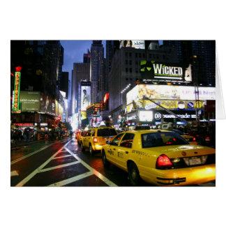 ブロードウェイのタクシー カード