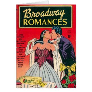 ブロードウェイのロマンスの漫画本 カード