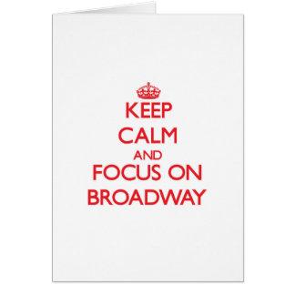 ブロードウェイの平静そして焦点を保って下さい カード