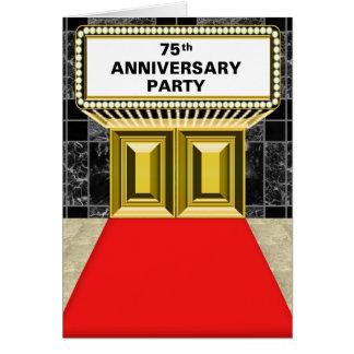 ブロードウェイの玄関ひさしの丁重な第75記念日 カード