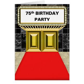 ブロードウェイの玄関ひさしの丁重な第75誕生会 カード