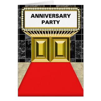 ブロードウェイの玄関ひさしの丁重な記念パーティー カード