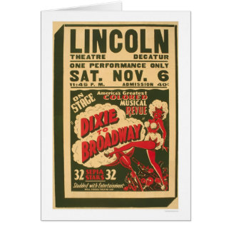 ブロードウェイへのDixie 1937 WPA カード