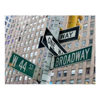 ブロードウェイ及びニューヨークシティの第44 -郵便はがき ポストカード