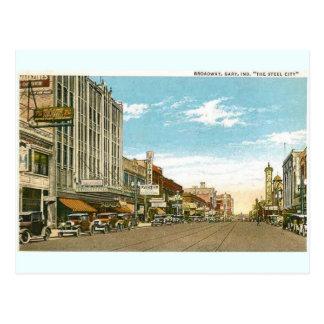 ブロードウェイ1930年ギャリー、インディアナの ポストカード