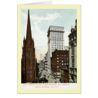 ブロードウェイNYの1897年のヴィンテージを下げて下さい カード