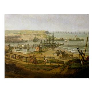 ブローニュでキャンプを訪問しているナポレオン ポストカード