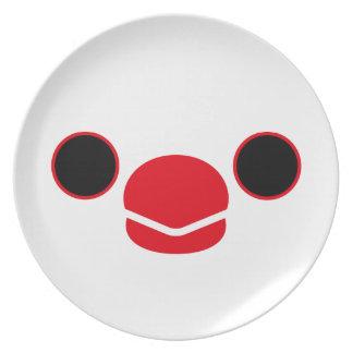 ブンチョウ(白い) お皿