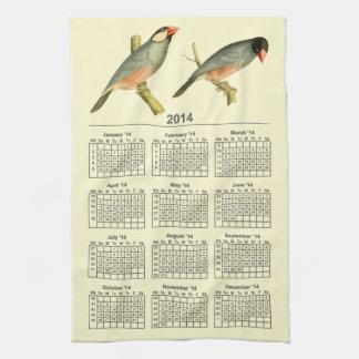 ブンチョウ、2014カレンダー キッチンタオル