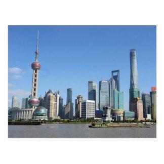 ブンドの郵便はがきからの上海 ポストカード