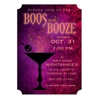 ブーイングおよび酒宴のハローウィンパーティの招待状 カード