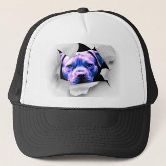 ブーイングのピット・ブルの見帽子-おもしろいおよび素晴らしい見ること--をかいま見て下さい キャップ