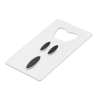 ブーイングの幽霊の顔の気味悪くかわいいハロウィンのバー クレジットカード 栓抜き