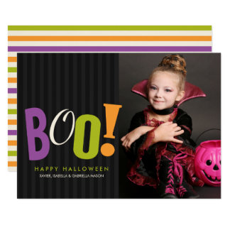 ブーイング! ハロウィンの写真カード カード