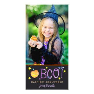 ブーイング|ハロウィンの写真カード|暗闇 カード