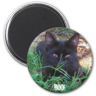 ブーイング! 黒い子猫の磁石 マグネット