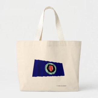 ブーゲンビルの自治区の振る旗 ラージトートバッグ