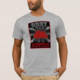 ブータンに従って下さい Tシャツ