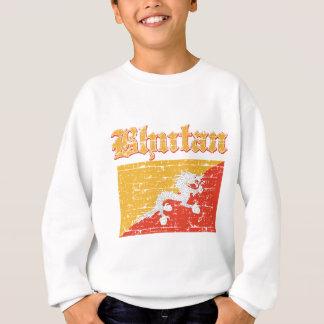 ブータンのグランジな旗 スウェットシャツ