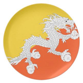 ブータンの国民の世界の旗 プレート
