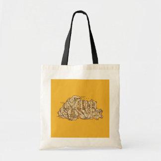 ブータンの地図のバッグ トートバッグ
