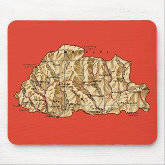 ブータンの地図のマウスパッド マウスパッド