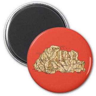 ブータンの地図の磁石 マグネット