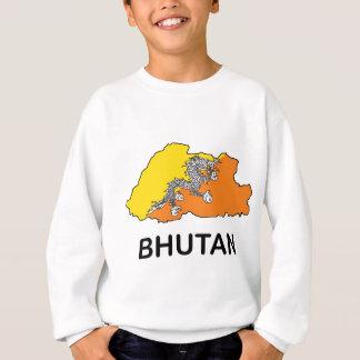 ブータンの地図 スウェットシャツ
