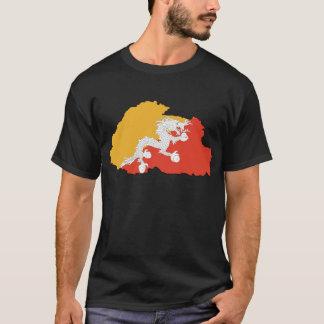 ブータンの地図BT Tシャツ