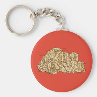 ブータンの地図Keychain キーホルダー