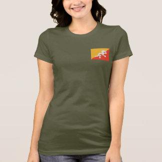 ブータンの旗および地図dkのTシャツ Tシャツ