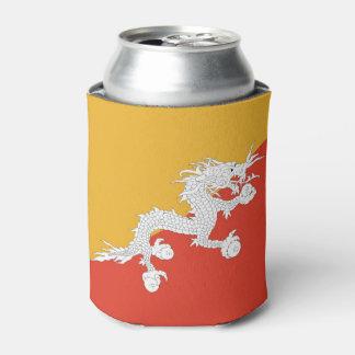 ブータンの旗が付いているクーラーボックス 缶クーラー