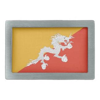 ブータンの旗が付いているベルトの留め金 長方形ベルトバックル