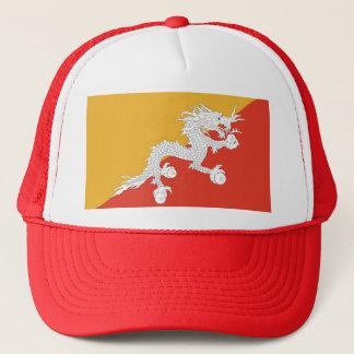 ブータンの旗が付いている帽子 キャップ