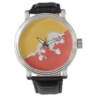 ブータンの旗が付いている愛国心が強く、特別な腕時計 腕時計
