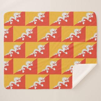 ブータンの旗が付いているSherpa愛国心が強い毛布 シェルパブランケット
