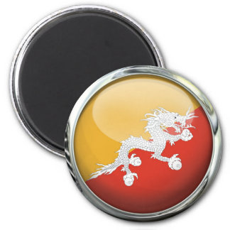 ブータンの旗のガラス玉 マグネット