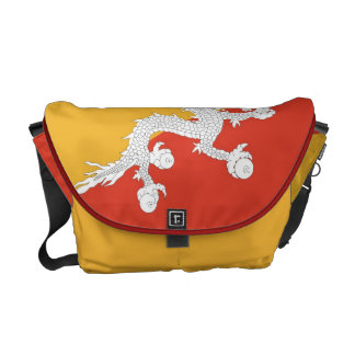ブータンの旗の人力車のメッセンジャーバッグ メッセンジャーバッグ