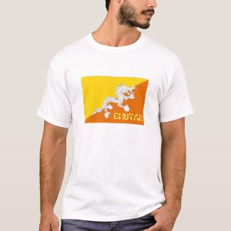 ブータンの旗の記念品のTシャツ Tシャツ