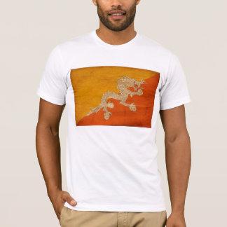 ブータンの旗のTシャツ Tシャツ