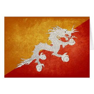 ブータンの旗 カード