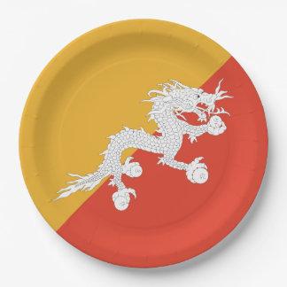 ブータンの旗 ペーパープレート