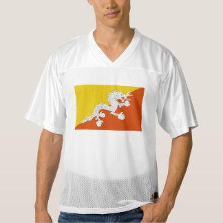 ブータンの旗 メンズフットボールジャージー