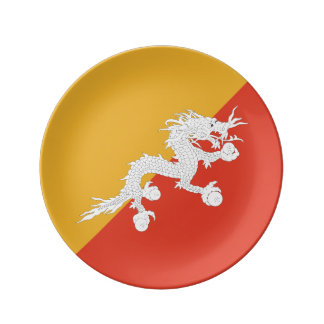 ブータンの旗 磁器プレート