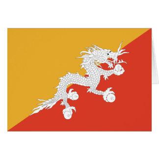 ブータンの旗Notecard カード