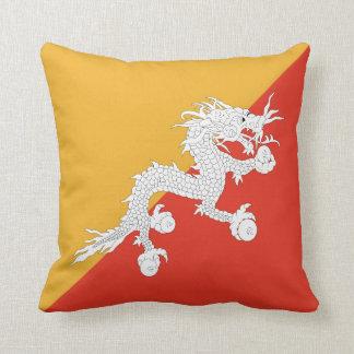 ブータンの旗Xの旗の枕 クッション