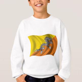 ブータンの波状の旗 スウェットシャツ