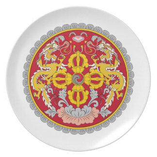 ブータンの紋章付き外衣 プレート