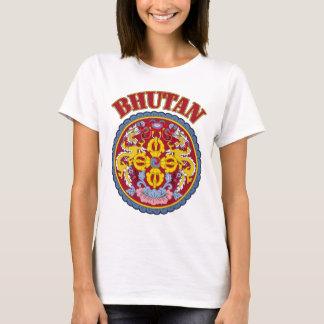 ブータンの紋章付き外衣 Tシャツ